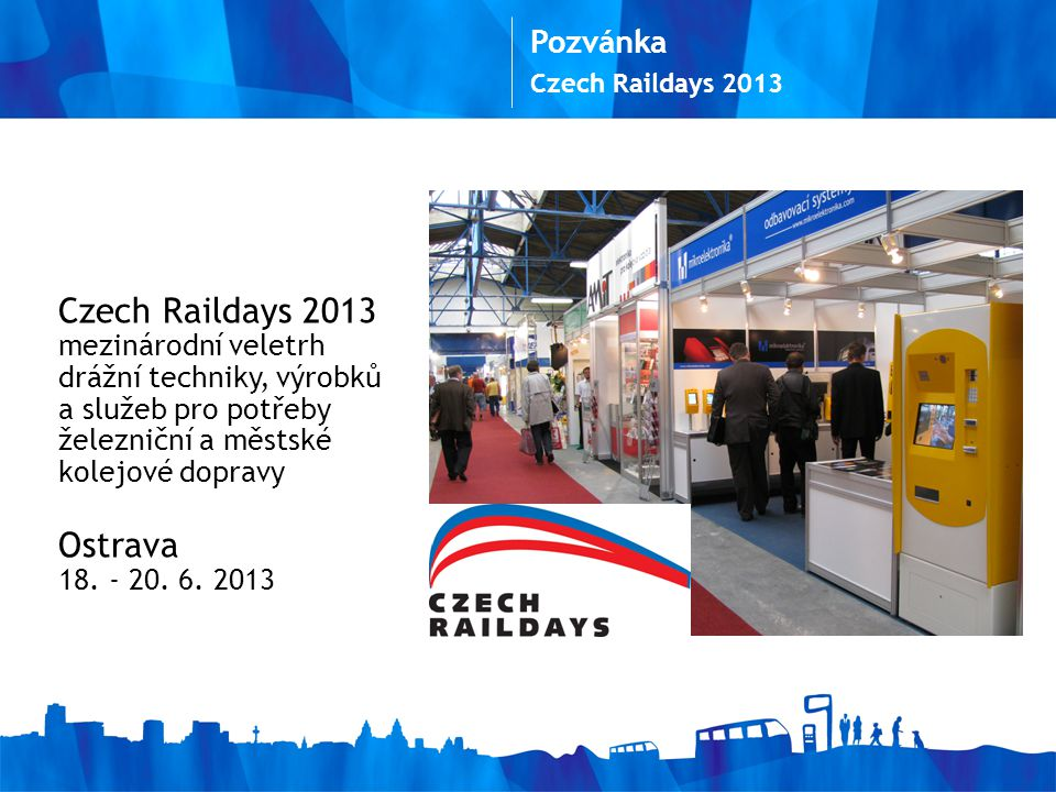 Ostrava Pozvánka Czech Raildays 2013