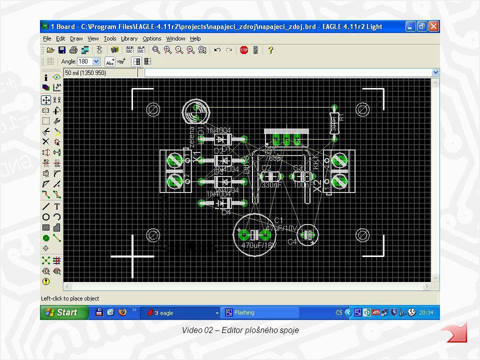 Video 02 – Editor plošného spoje