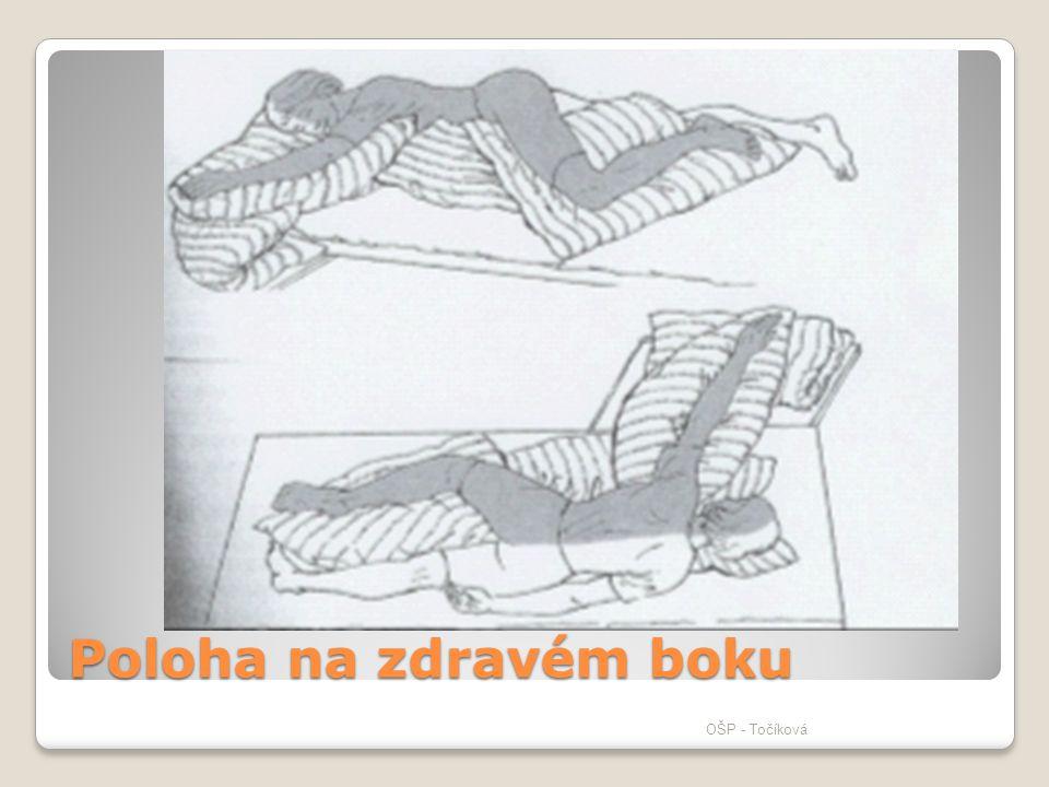 Poloha na zdravém boku OŠP - Točíková