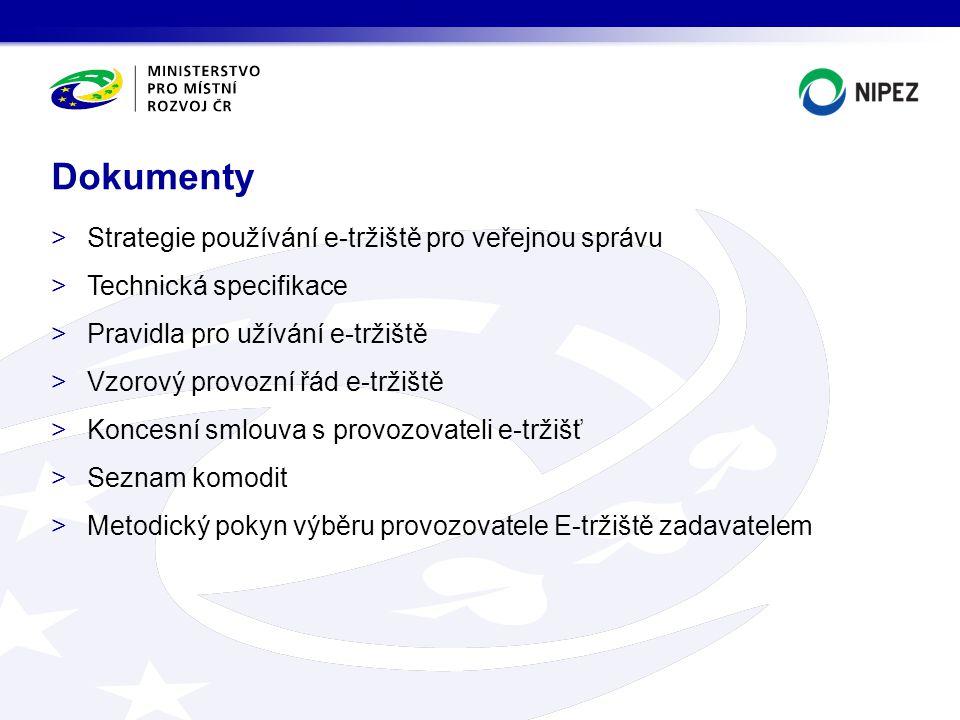 Dokumenty Strategie používání e-tržiště pro veřejnou správu
