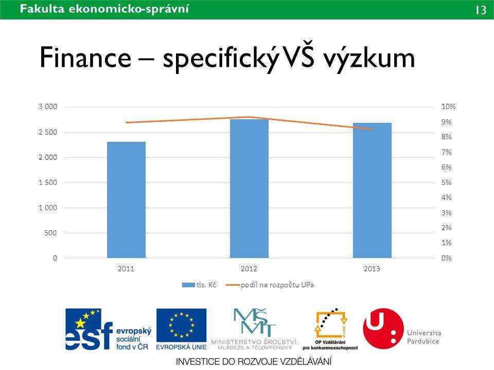 Finance – specifický VŠ výzkum