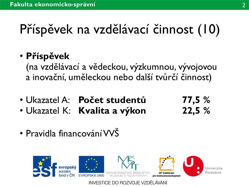 Příspěvek na vzdělávací činnost (10)