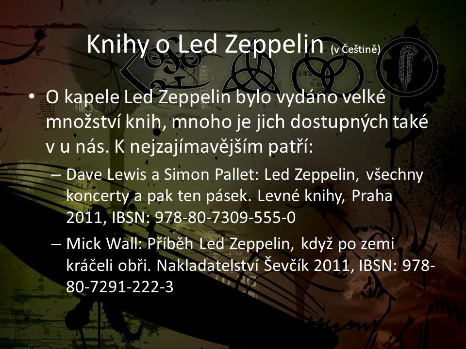 Knihy o Led Zeppelin (v Češtině)