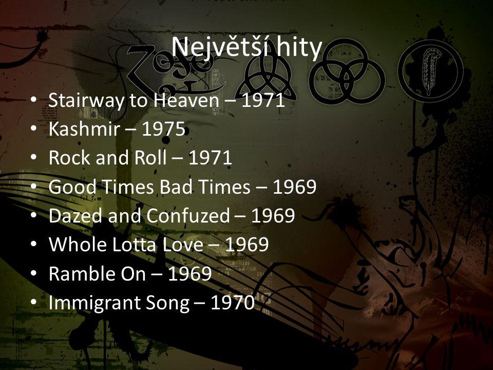 Největší hity Stairway to Heaven – 1971 Kashmir – 1975