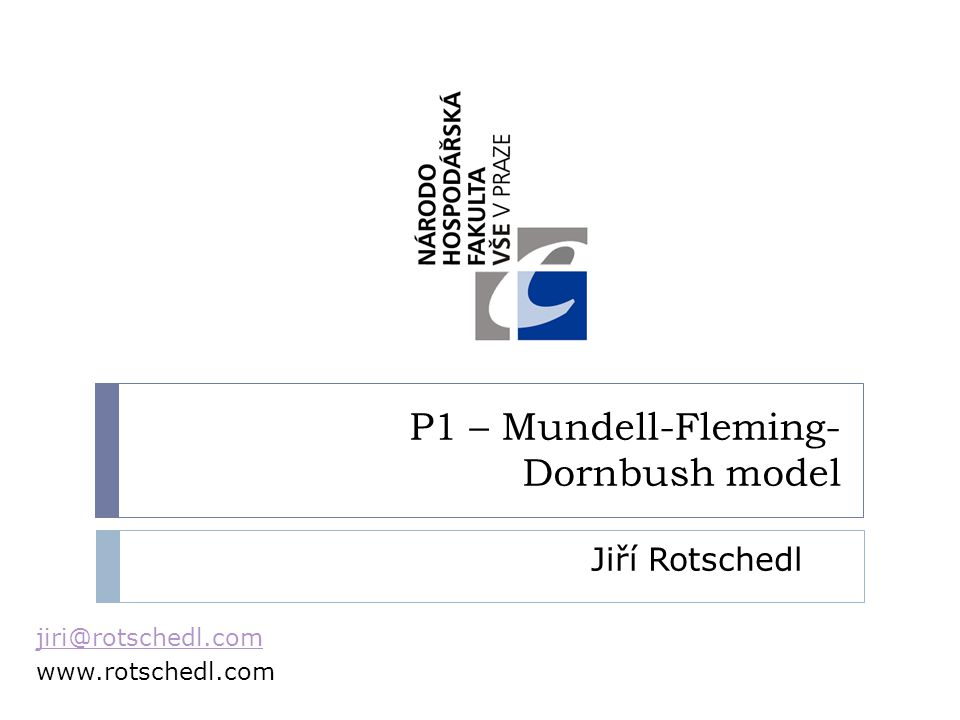 P1 – Mundell-Fleming-Dornbush model