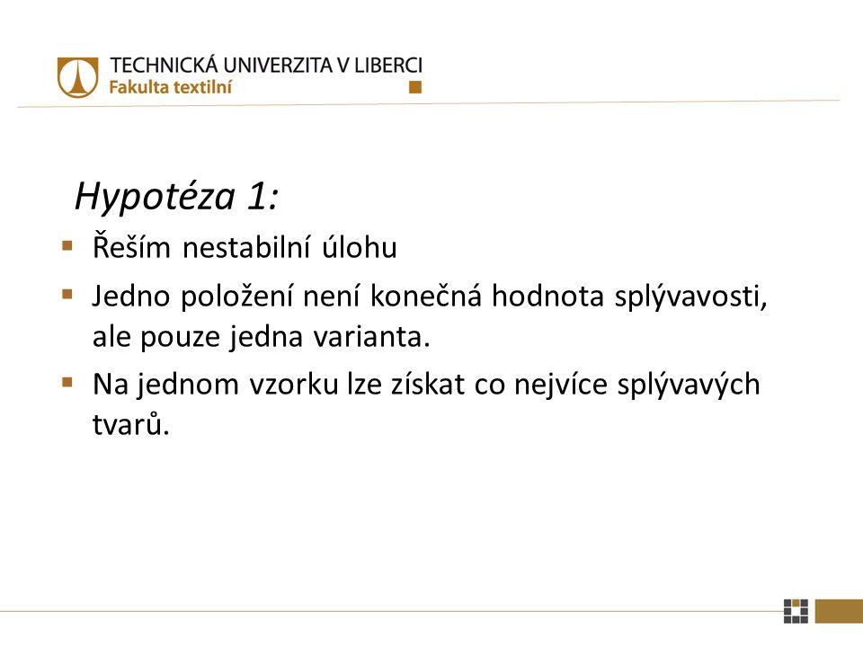 Hypotéza 1: Řeším nestabilní úlohu