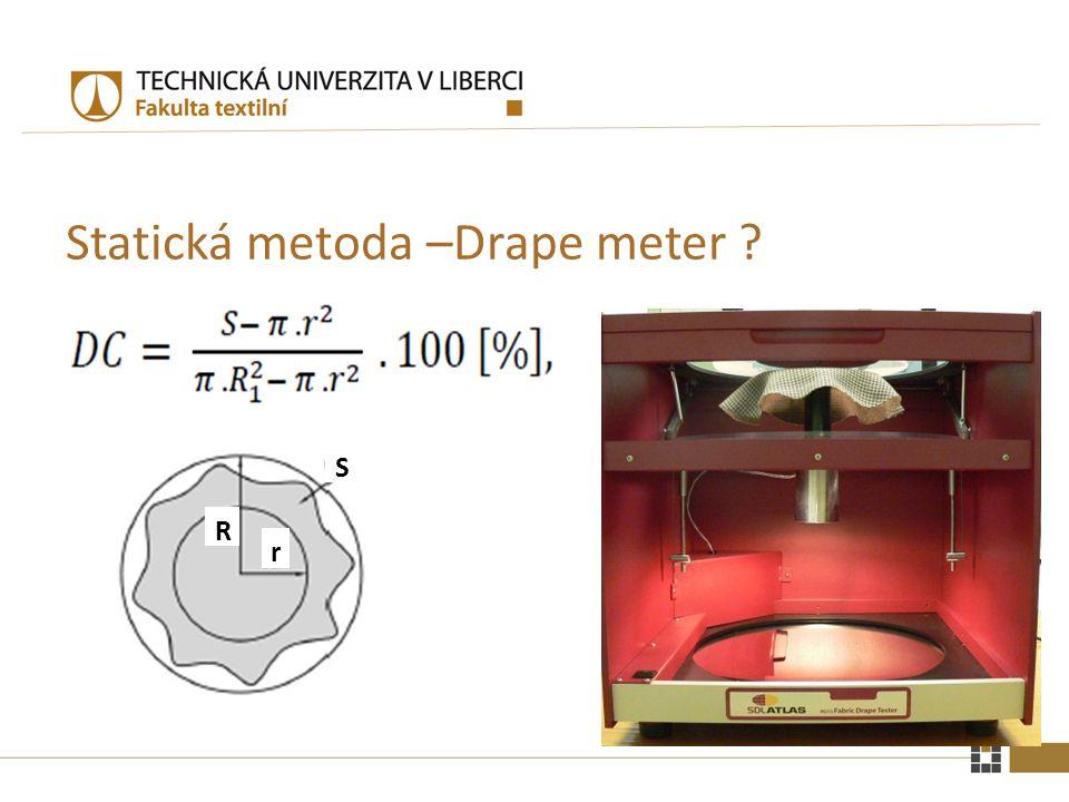 Statická metoda –Drape meter