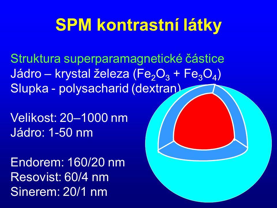 SPM kontrastní látky Struktura superparamagnetické částice