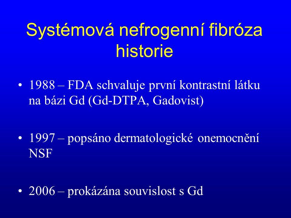 Systémová nefrogenní fibróza historie