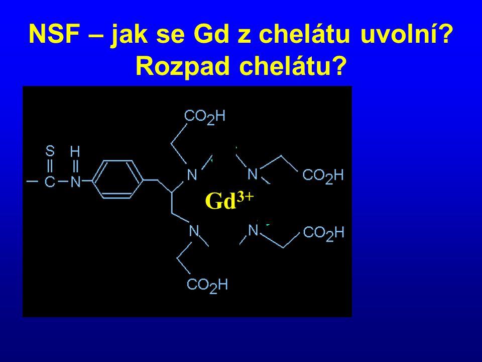 NSF – jak se Gd z chelátu uvolní Rozpad chelátu