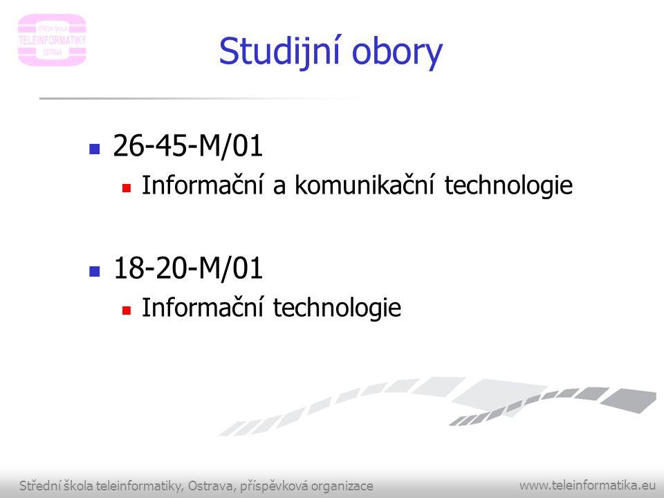 Studijní obory 26-45-M/01 18-20-M/01
