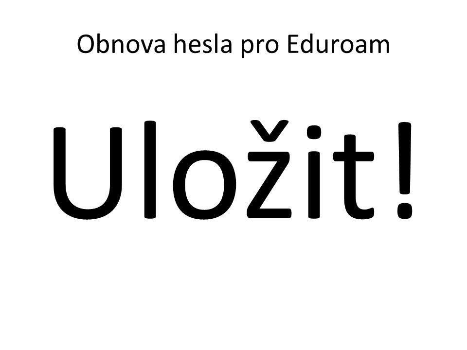 Obnova hesla pro Eduroam