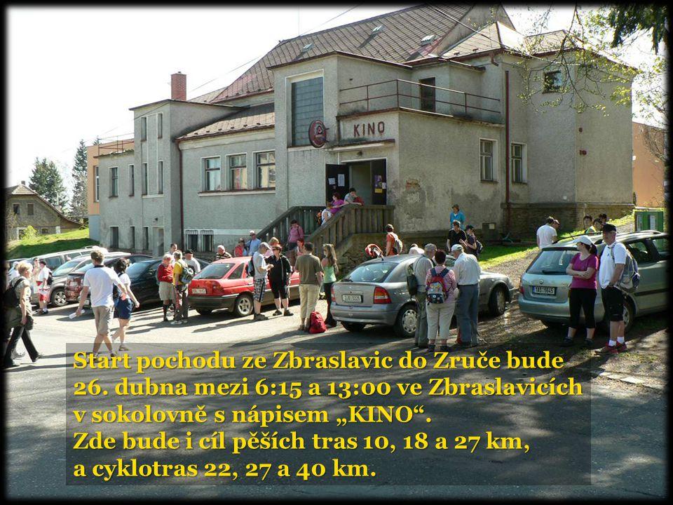 Start pochodu ze Zbraslavic do Zruče bude 26