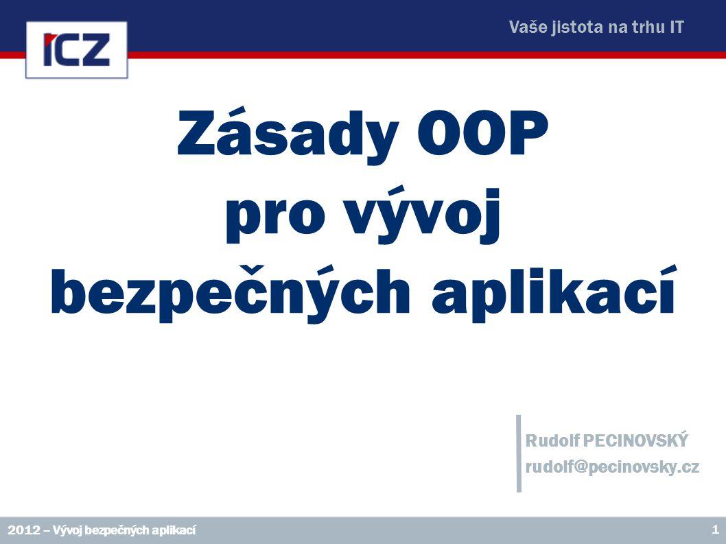 Zásady OOP pro vývoj bezpečných aplikací