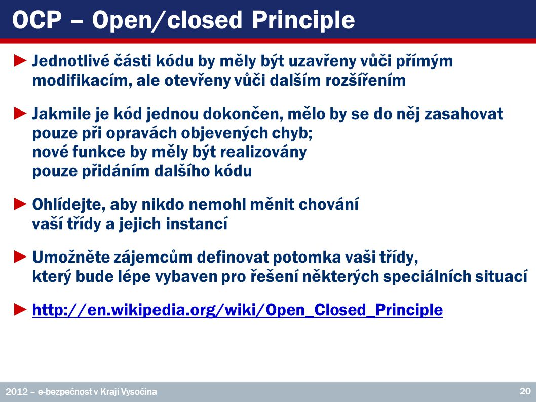 OCP – Open/closed Principle