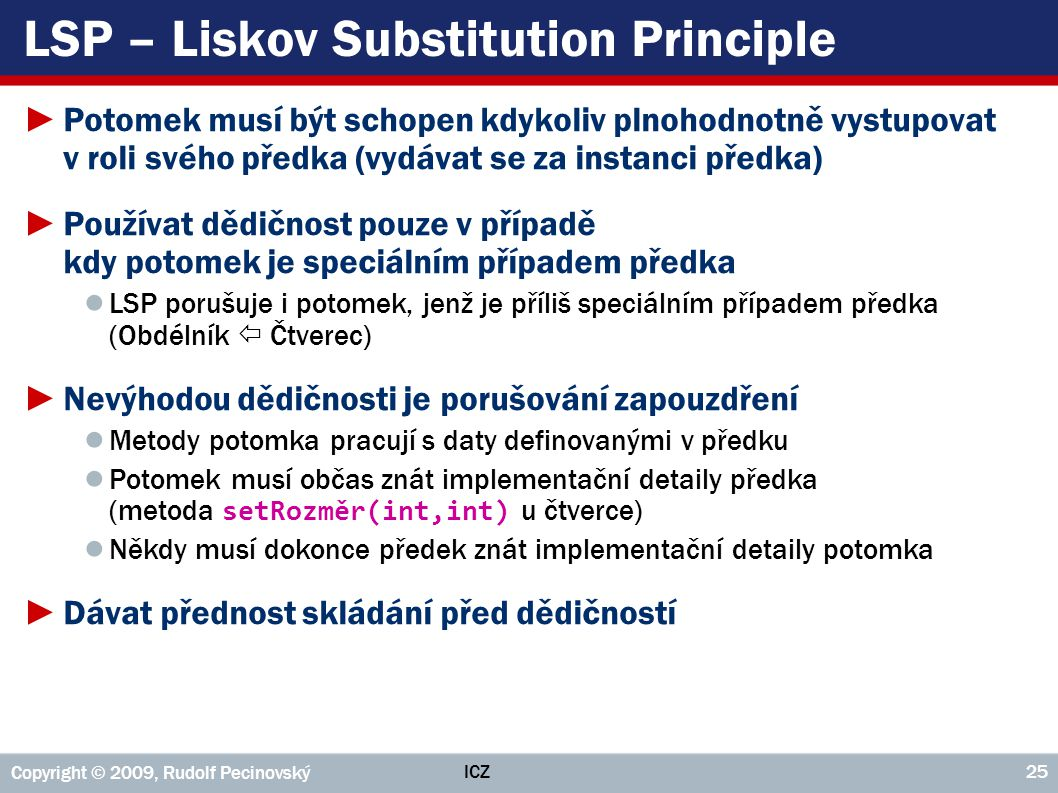 LSP – Liskov Substitution Principle