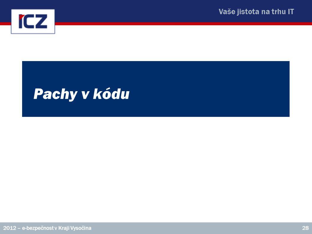 Pachy v kódu 2012 – e-bezpečnost v Kraji Vysočina