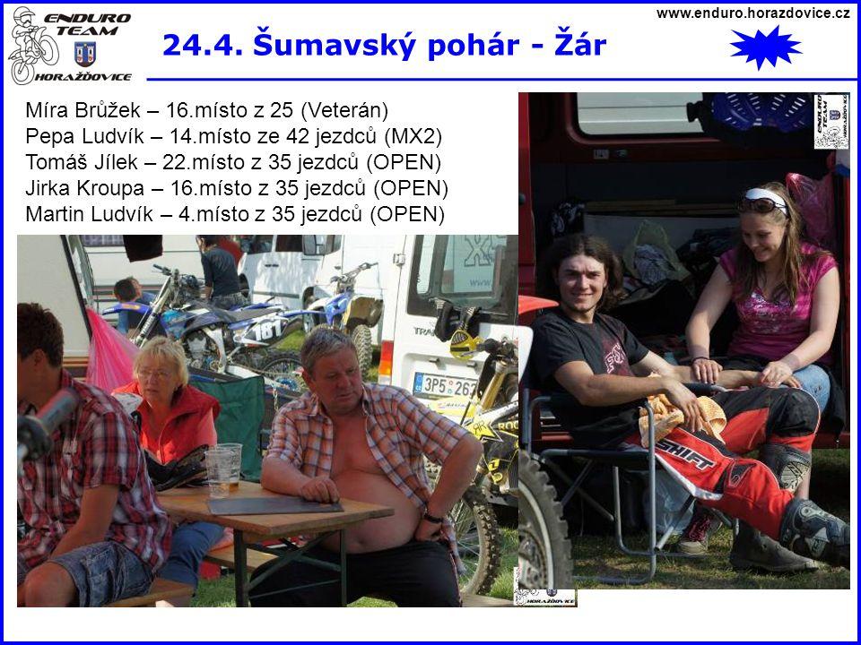 24.4. Šumavský pohár - Žár Míra Brůžek – 16.místo z 25 (Veterán)