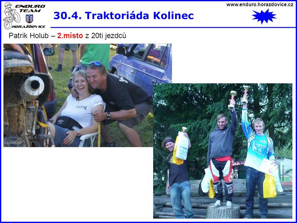 30.4. Traktoriáda Kolinec Patrik Holub – 2.místo z 20ti jezdců