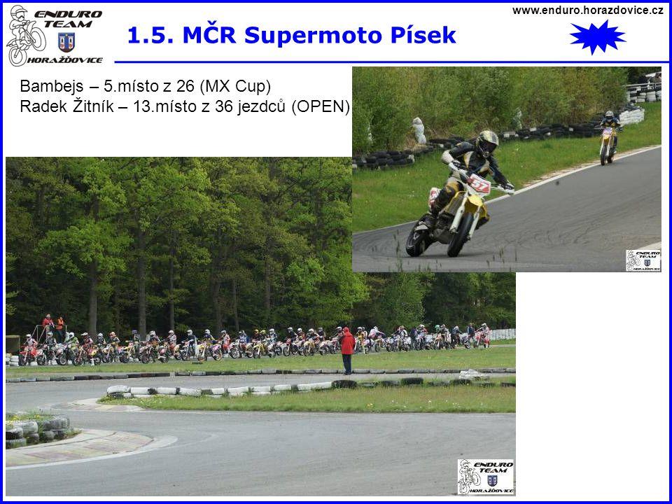1.5. MČR Supermoto Písek Bambejs – 5.místo z 26 (MX Cup)