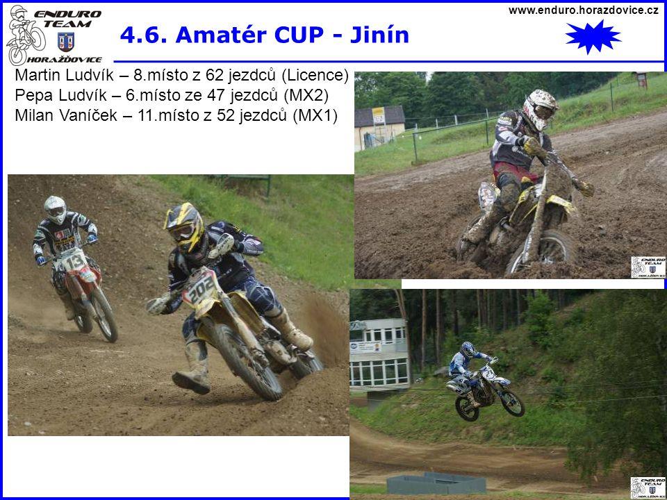 4.6. Amatér CUP - Jinín Martin Ludvík – 8.místo z 62 jezdců (Licence)