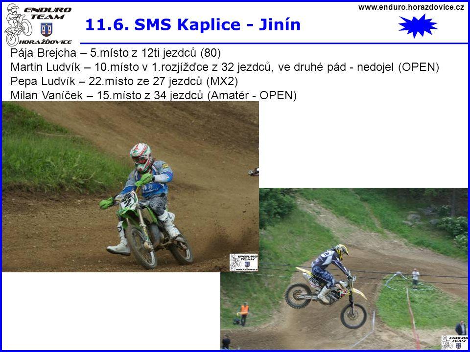 11.6. SMS Kaplice - Jinín Pája Brejcha – 5.místo z 12ti jezdců (80)