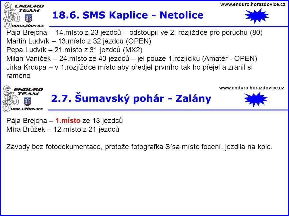 2.7. Šumavský pohár - Zalány