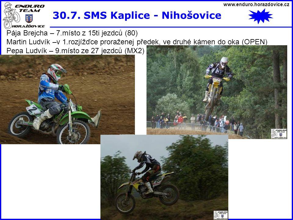 30.7. SMS Kaplice - Nihošovice