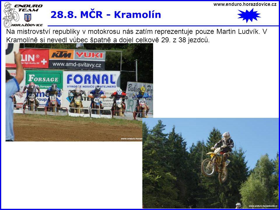 www.enduro.horazdovice.cz 28.8. MČR - Kramolín.