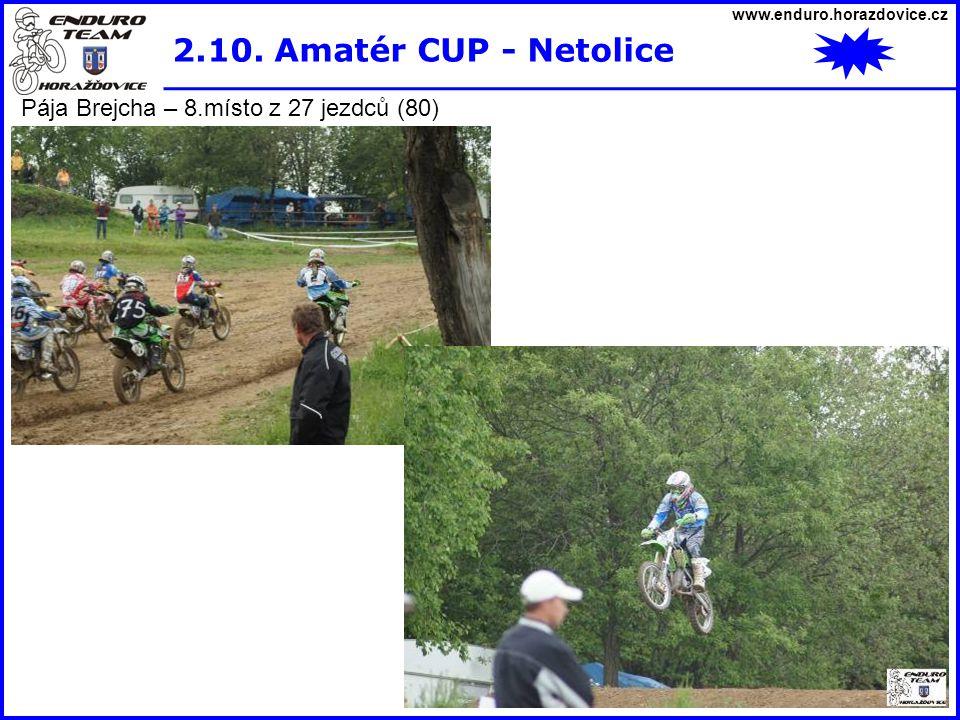 2.10. Amatér CUP - Netolice Pája Brejcha – 8.místo z 27 jezdců (80)