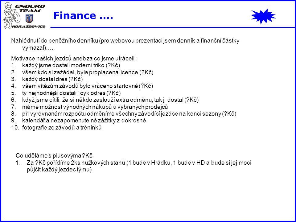 Finance …. Nahlédnutí do peněžního denníku (pro webovou prezentaci jsem denník a finanční částky vymazal)…..