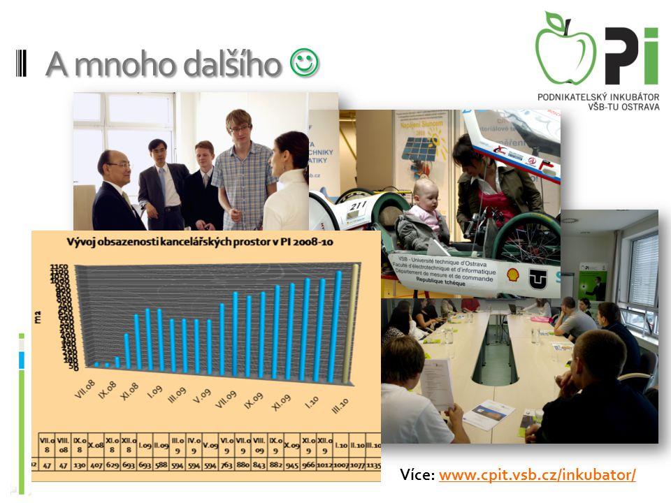 A mnoho dalšího  Více: www.cpit.vsb.cz/inkubator/