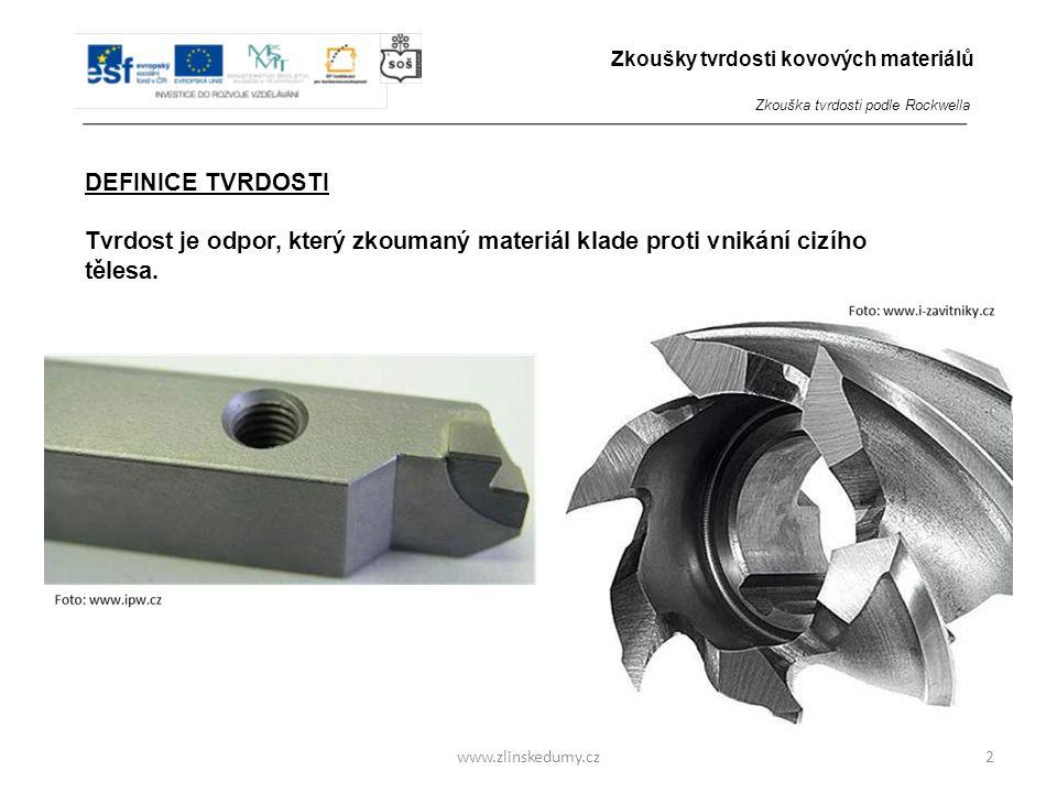 Zkoušky tvrdosti kovových materiálů