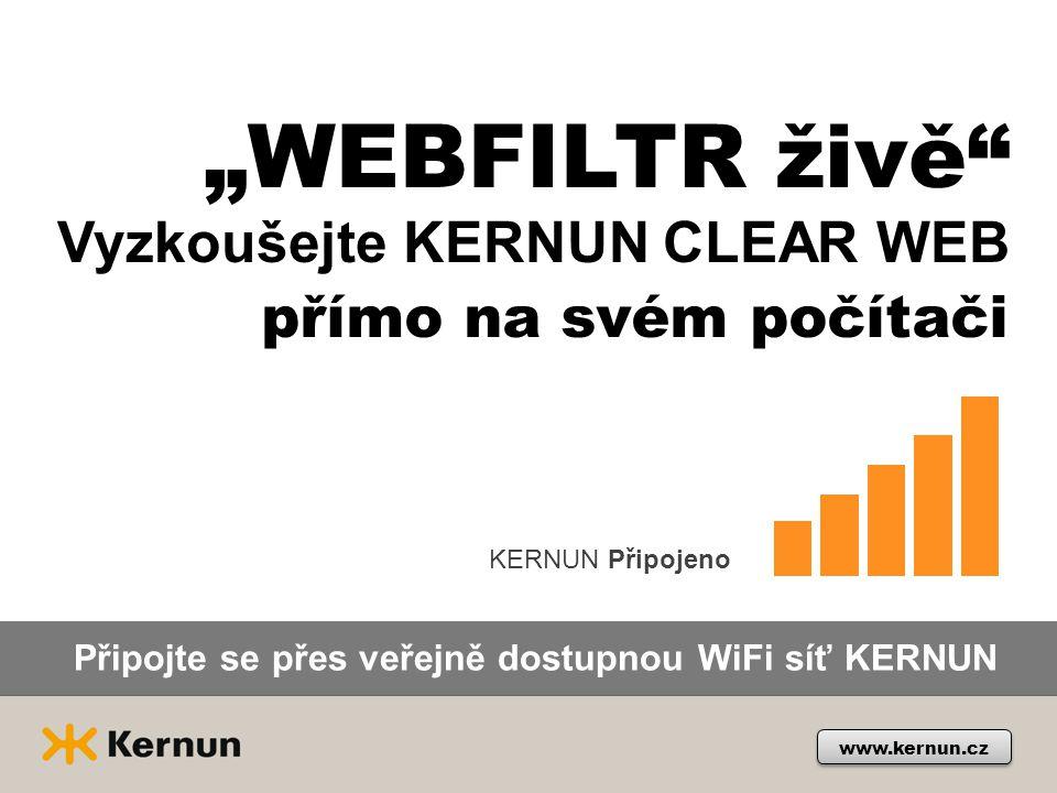 """""""WEBFILTR živě přímo na svém počítači Vyzkoušejte KERNUN CLEAR WEB"""