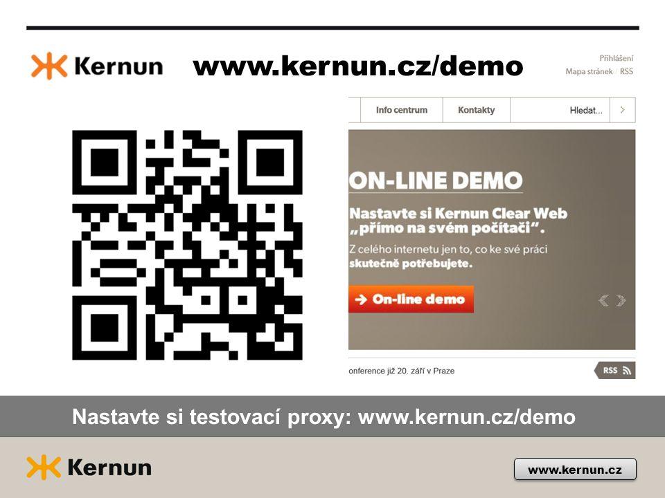 Nastavte si testovací proxy: www.kernun.cz/demo