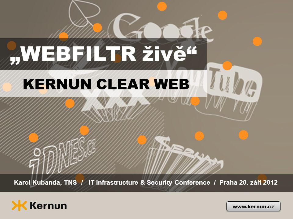 """""""WEBFILTR živě KERNUN CLEAR WEB"""