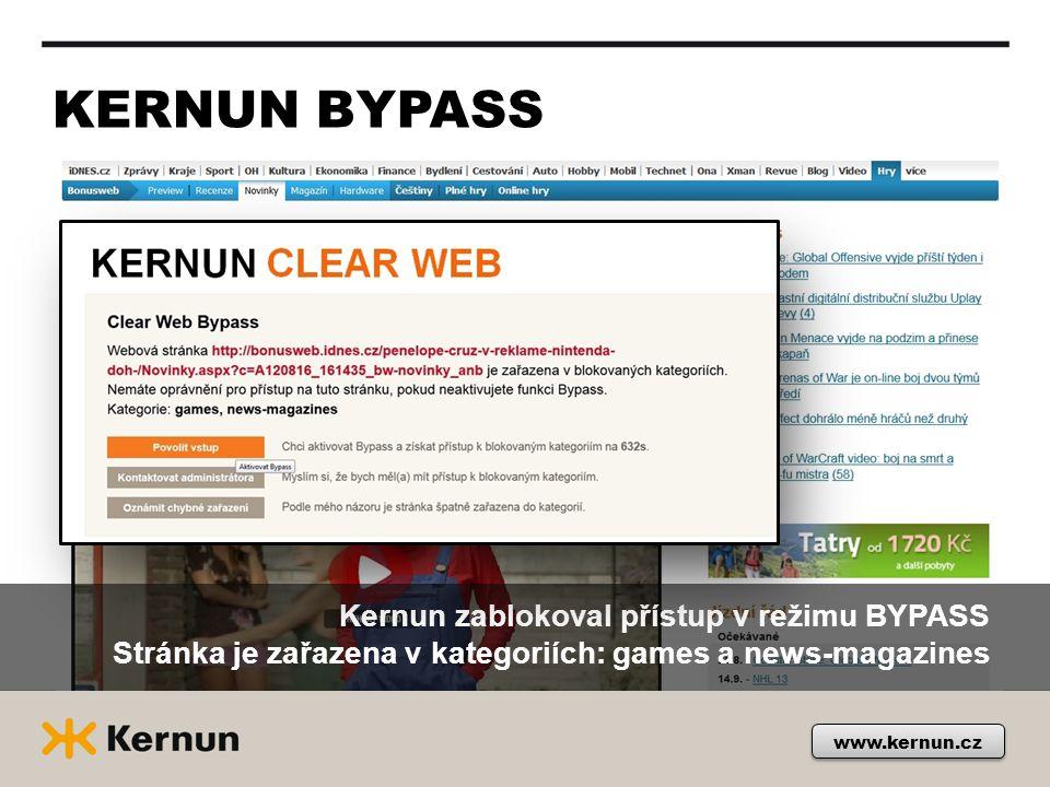 KERNUN BYPASS Kernun zablokoval přístup v režimu BYPASS Stránka je zařazena v kategoriích: games a news-magazines.