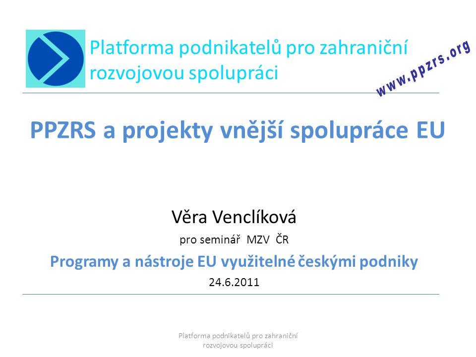 PPZRS a projekty vnější spolupráce EU