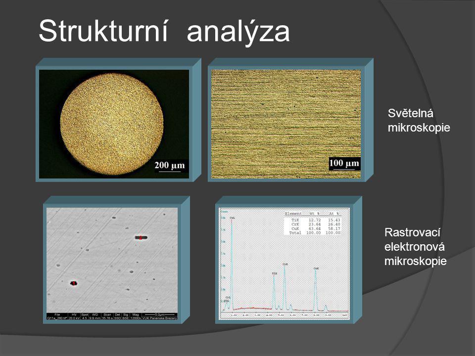 Strukturní analýza Světelná mikroskopie