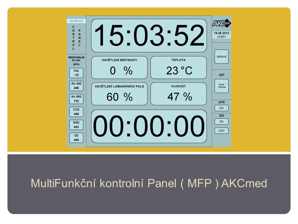 MultiFunkční kontrolní Panel ( MFP ) AKCmed