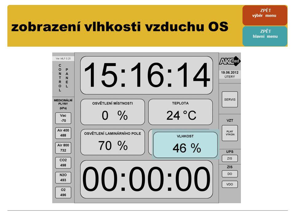 zobrazení vlhkosti vzduchu OS