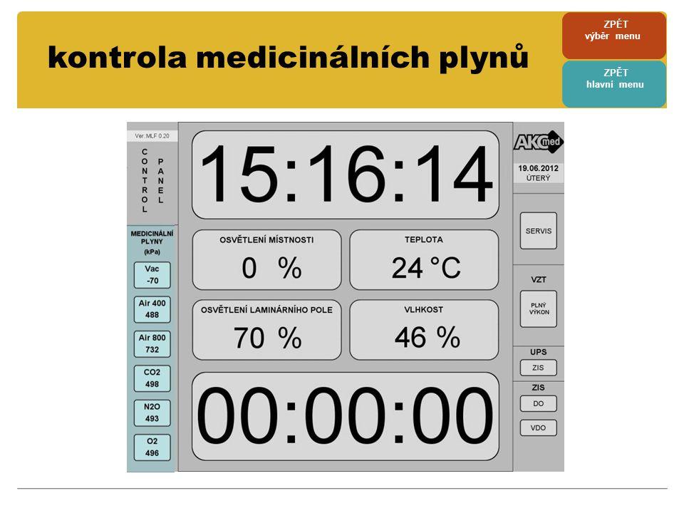 kontrola medicinálních plynů