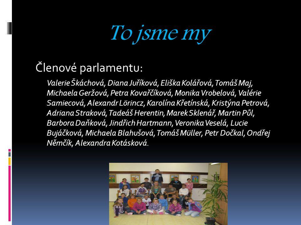 To jsme my Členové parlamentu: