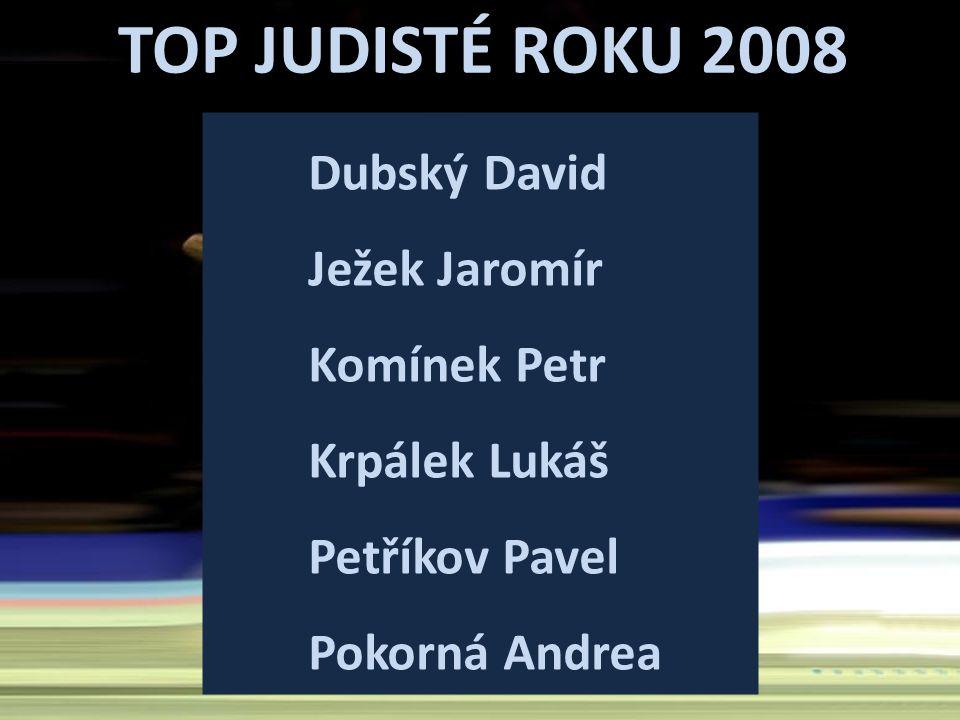 TOP JUDISTÉ ROKU 2008 Dubský David Ježek Jaromír Komínek Petr