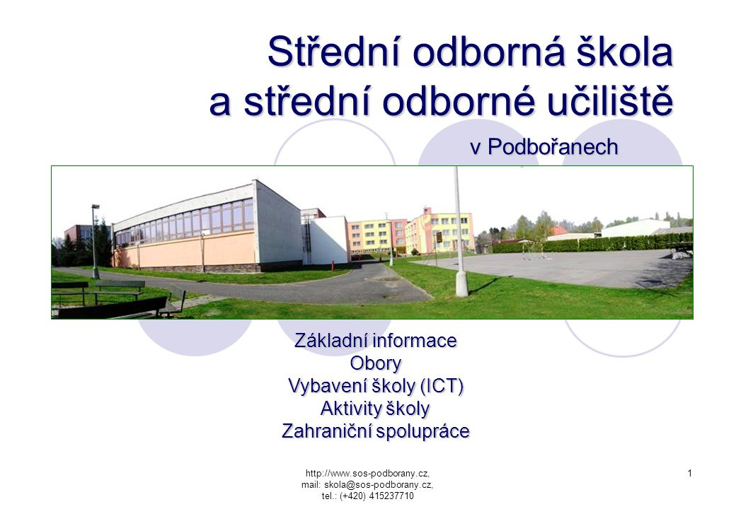 Střední odborná škola a střední odborné učiliště