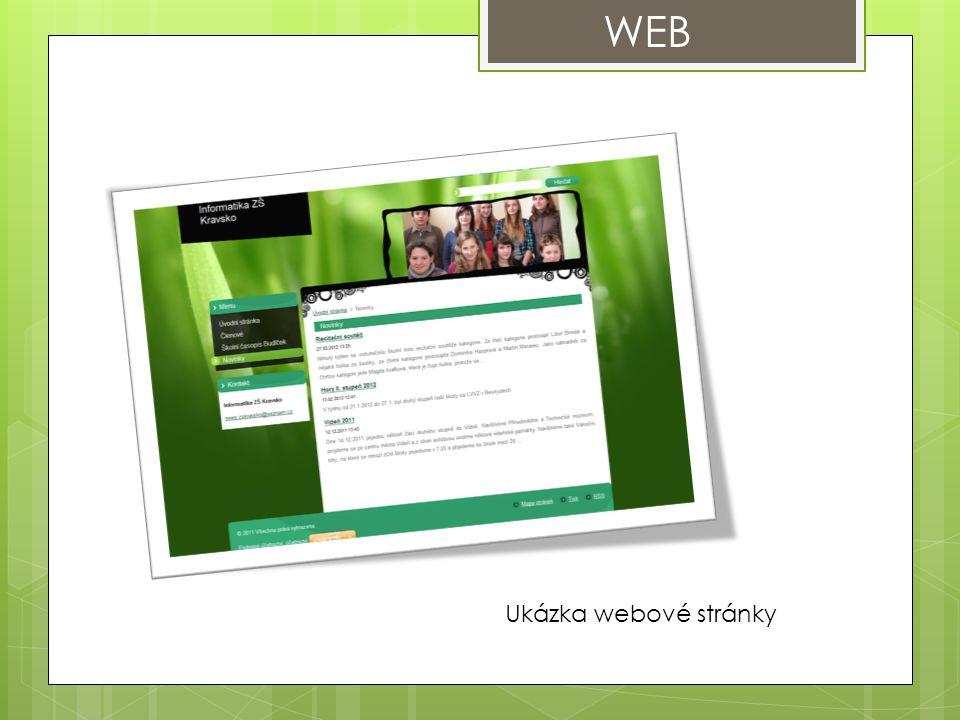 WEB Ukázka webové stránky