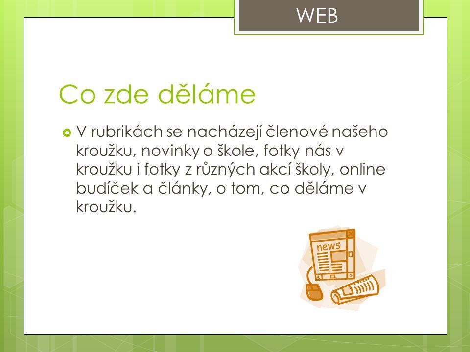 WEB Co zde děláme.