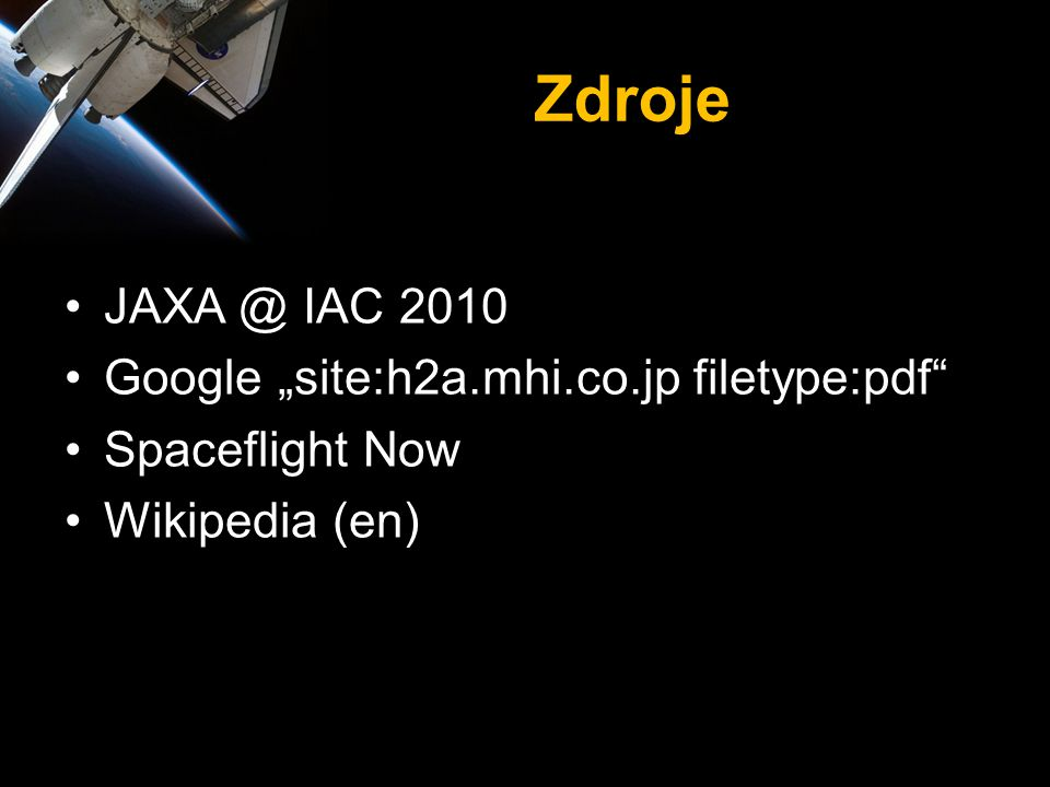 "Zdroje JAXA @ IAC 2010 Google ""site:h2a.mhi.co.jp filetype:pdf"