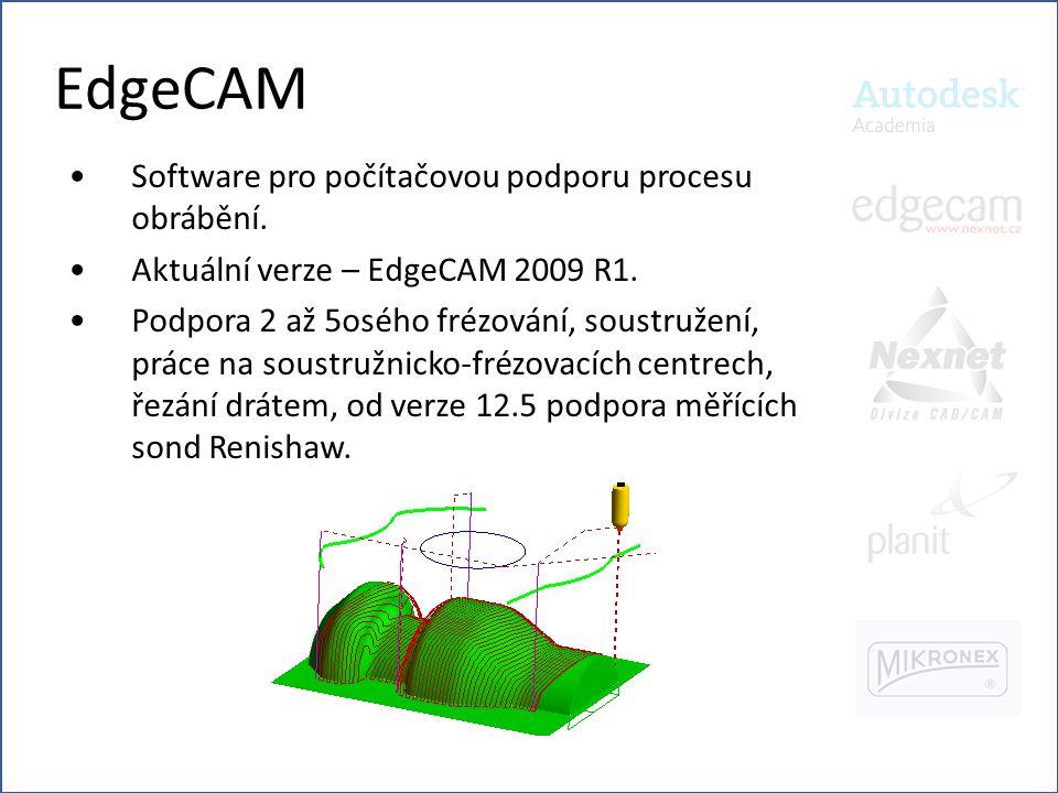 EdgeCAM Software pro počítačovou podporu procesu obrábění.