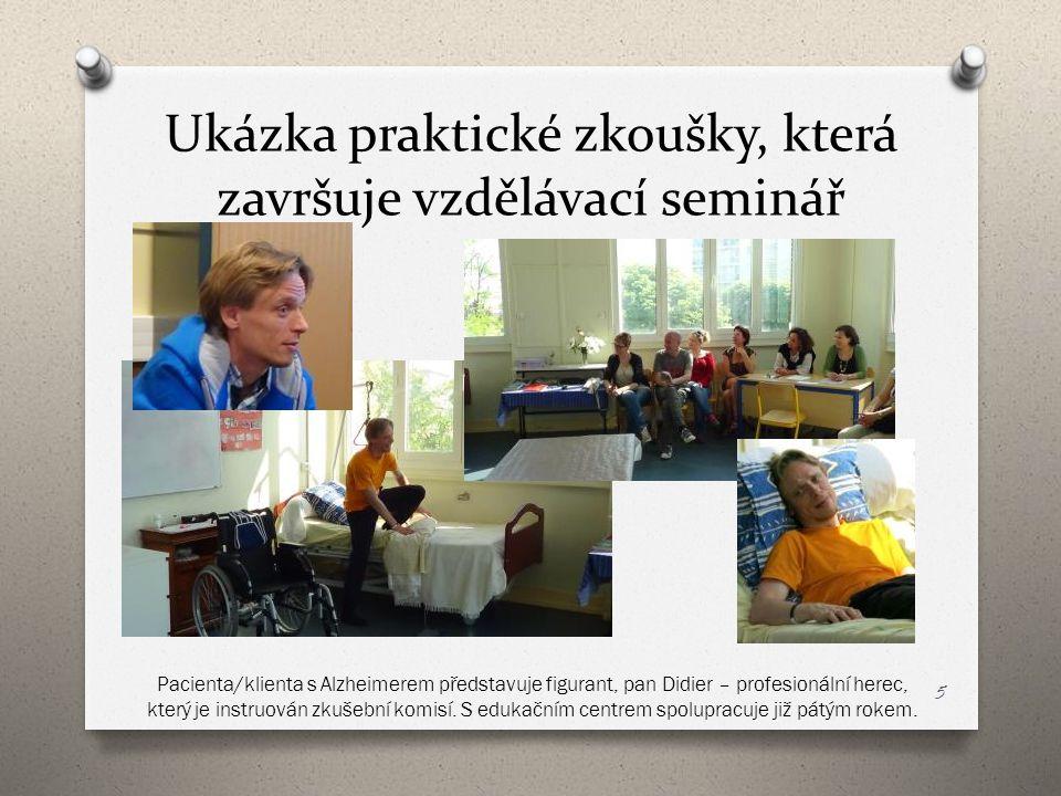 Ukázka praktické zkoušky, která završuje vzdělávací seminář